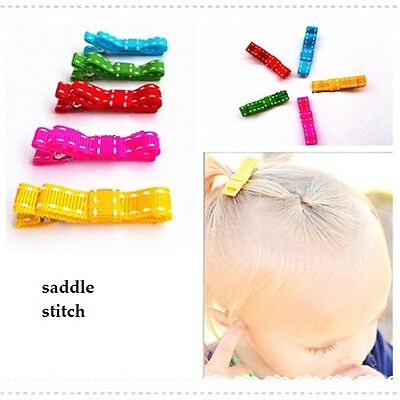 NEW Baby Infant Toddler Girls Kids Tiny Mini hair bow Clip  *one size fits all*