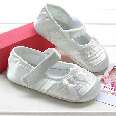 NEW Baby Girl Christening Ivory Cream Mary Janes Shoes 0-6-12-18m Size 2/4/5