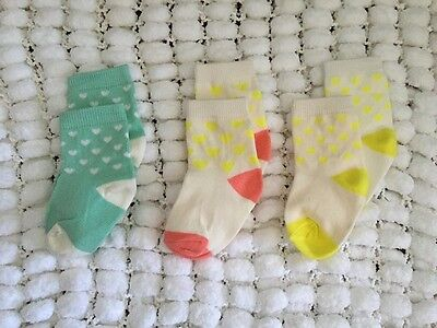 SET of 3 × Sweet Infant Kids Girl Everyday Cotton Socks 1-3 years old