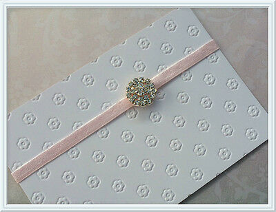 NEW Sweet Baby Girl Silver Diamante on Skinny Headband, Photo Prop 0-12 months