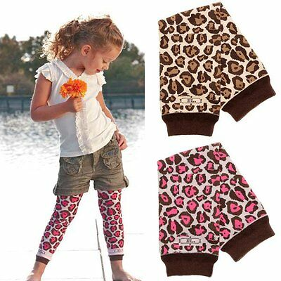 Set of 2 x Baby Infant Toddler Girl Leopard Leg Warmers, brand new VERY soft