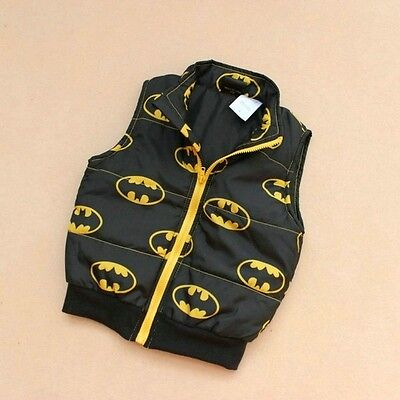NEW Children Kids Toddler Boy Superman Batman Zip polyester VEST  size 3