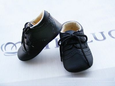 NEW Baby Boy **White Black Brown** Formal PU LEATHER Shoes 0-12m Size 2/3/4