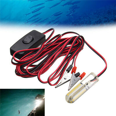 12V 12W Underwater LED Fishing Night Light Lamp Bait Lure Attract Fish Squid