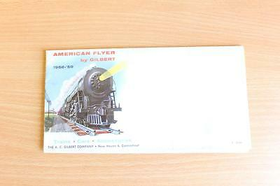 American Flyer S scale train 1958 / 1959  fold out catalogue (made by Gilbert)