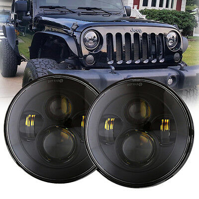 "DOT E9 7"" Replacement Projector LED Headlight Assembly for 97-17 Jeep Wrangler"
