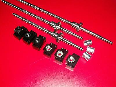 1 anti backlash 16mm ballscrew RM1605-1250mm-c7+BK//BF12 end bearing set CNC