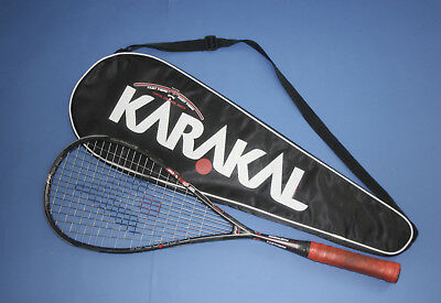 Karakal SN90 Fast Fibre squash racket, excellent used condition plus padded case