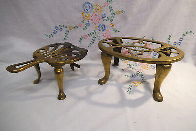Pair of Vintage Brass Fireside Trivits