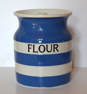Old Cornish Ware ' Flour' Storage Jar