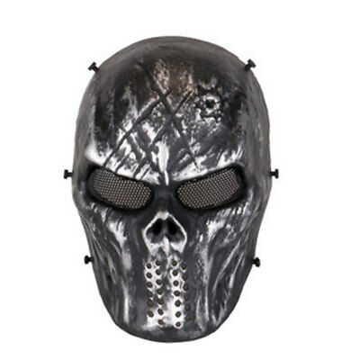 Paintball Mask Metal Army Hunting Skull Full Face Reenactment Protection