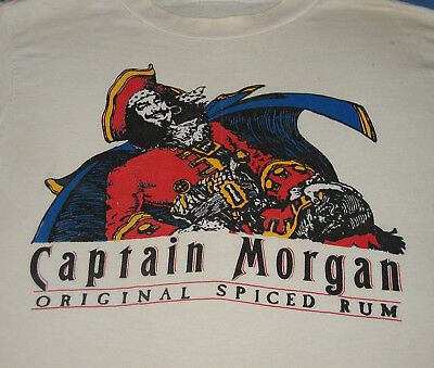 *RARE*  Vintage CAPTAIN MORGAN Spiced Rum T Shirt Made in the U.S.A.
