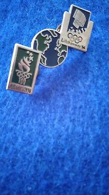 1994 Lillehammer~1996 Atlanta Olympic Bridge Pin Badge
