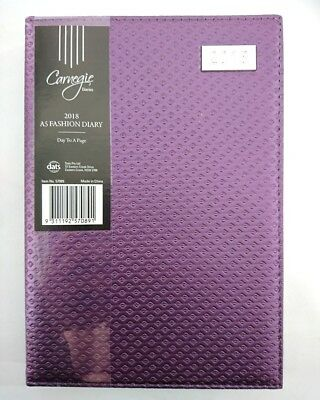 2018 Diary Fancy Cover A5 Day To Page Women's Diary Day To An Opening A5-Purple