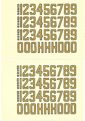 2x Vtg DECAL Sheets Finnish FAI license numbers for RC, CL, FF model airplanes