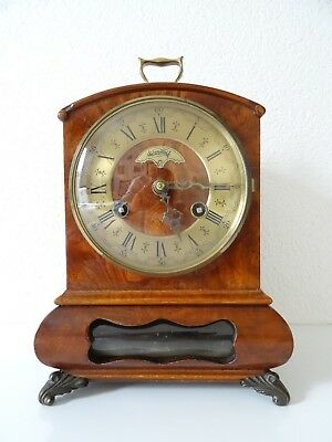 Dutch Warmink WUBA Antique Vintage Mantel Clock Shelf (Junghans Kienzle era)