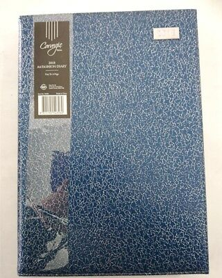 New 2018 Diary A4 Day To Page Fancy Cover Day To An Opening A4 DTP-Blue