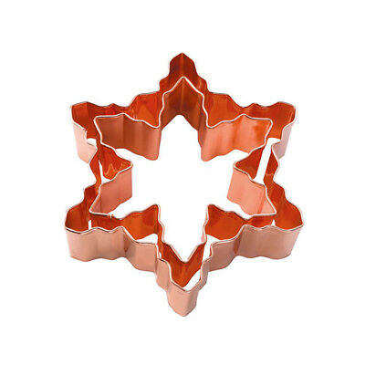 Eddingtons Copper Snowflake Cookie Cutter Set of 2 Festive Christmas Baking Fun