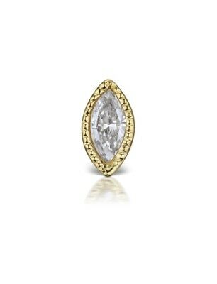 Venus by Maria Tash 3.7mm Scalloped Marquise Diamond Threaded Stud