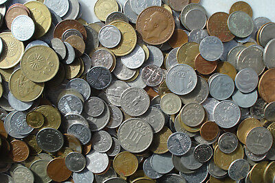 30 Coins Randomly Selected from a Lot of about 3Kg - mostly European coins