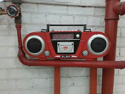 retro vintage boombox Casette player display