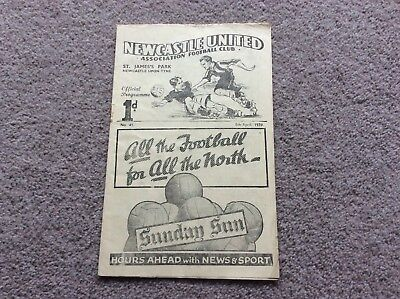 Newcastle United V Manchester City 1938/39
