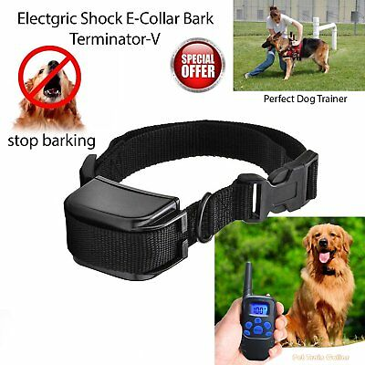 Electric Shock Anti Bark Dog Collar Stop Barking Pet Training Control Aid New
