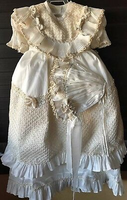 Baby Girl Christening Baptism Dress. (Ropon Para Nińa Bautismo)