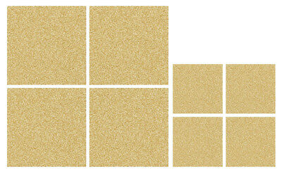 iStyle Faux Leather Placemats and Coasters Set of 4, Gold Xmas Glitter Sparkle