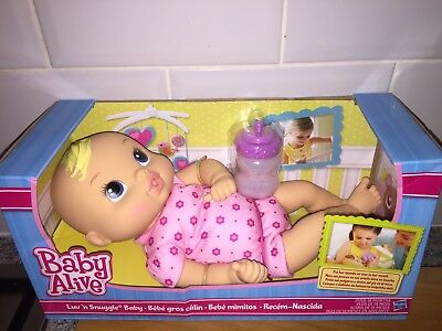 Baby Alive Luv n Snuggle Baby Blonde Brand New Boxed