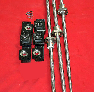3 anti backlash 16mm ballscrew RM1605-465/605/605mm+BK/BF12 end bearing CNC set
