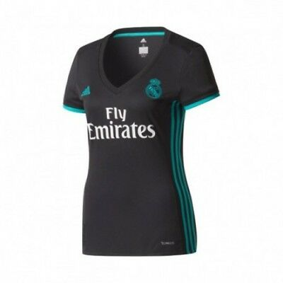 Womens M Real Madrid Away Shirt 2017-18 with Champions 12 RM4