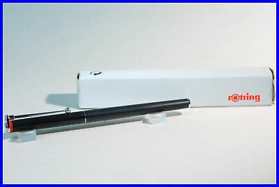 NOS Rotring 700 FH Black fountain pen, first series knurled grip M nib / BOXED