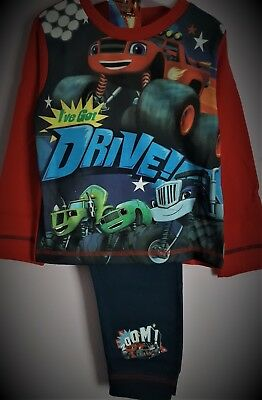 Blaze and the Monster Machines Pyjamas Blue Pjs Boys Pj's Pyjama Set T2TC298