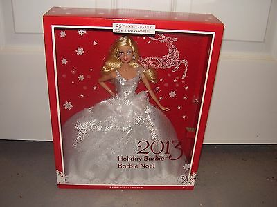 Holiday 25th Anniversary 2013 Barbie Doll