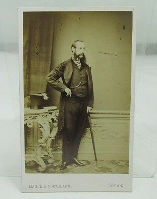 RIFLE VOLUNTEERS FOUNDER ANTIQUE CDV PHOTOGRAPH HANS BUSK 19th CENTURY MILITARY
