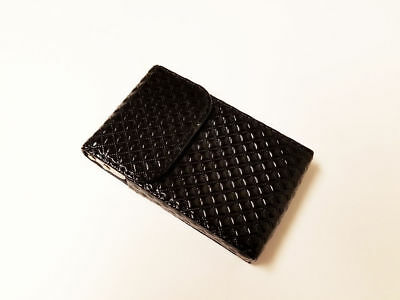 Black Patent Leather Business ID Credit Card Holder Case Wallet