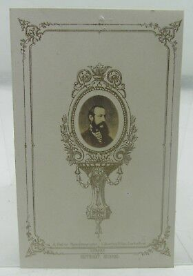ANTIQUE MILITARY CDV PHOTOGRAPH MINIATURE HANS BUSK 19th CENTURY RIFLE VOLUNTEER