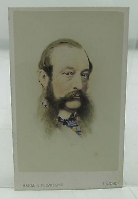 RIFLE VOLUNTEERS FOUNDER HANS BUSK ANTIQUE CDV PHOTOGRAPH 19th CENTURY MILITARY