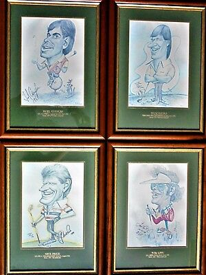 Full Set 4 1992 Grand Slam Winners Faldo,Kite,Couples & Price Tony Rafty Ltd Ed