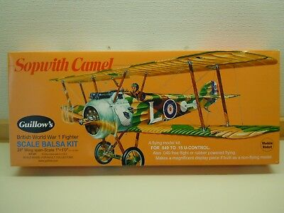 Guillow's Sopwith Camel + vintage scale wheels