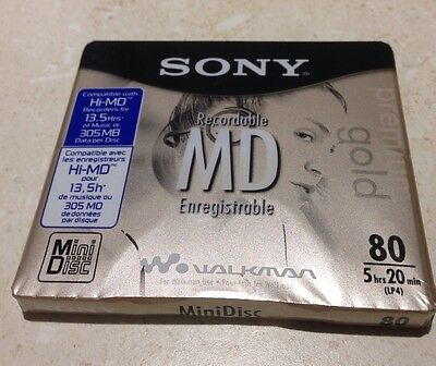 Sony premium gold recordable MiniDisc 80