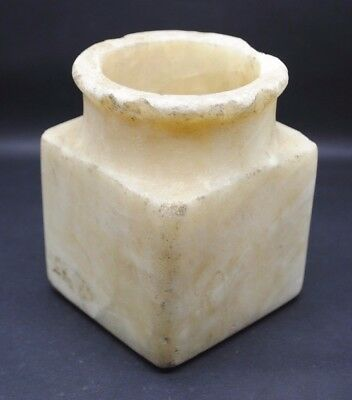 Ancient Egyptian alabaster vessel 2000 BC