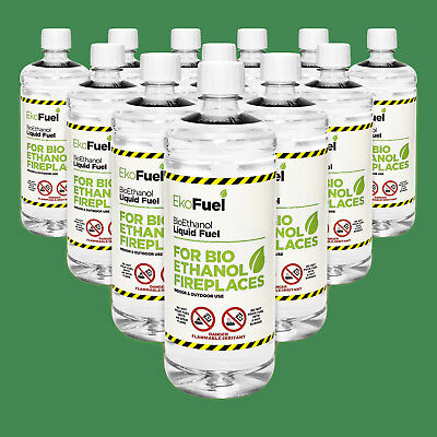 Bioethanol Fuel 12 x 1L. FREE NEXT DAY DELIVERY. 97% Purity, Clean Burning
