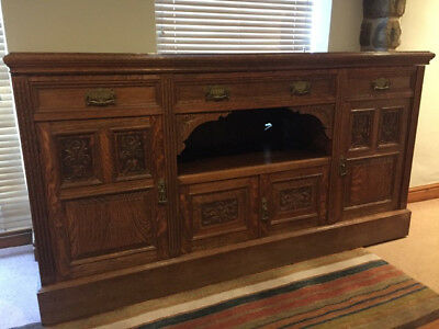 Large oak sideboard. Very solid in mostly good condition