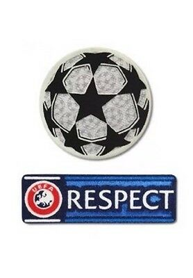 Champions League & Respect Patch Patches - Football Shirt-Iron On UCL