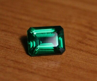3.58ct Chatham Emerald - Beautiful Flawless Custom Cut Gem