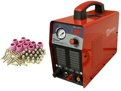 Plasma Cutter Pilot Arc Simadre 50Dp 50Amp 110V/220V Power Safety Torch 25 Cons