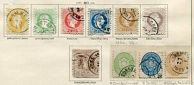 AUSTRIA (Levant)  - Small collection Cancelled/MH