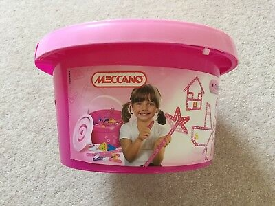 Meccano Pink Bucket 100+ Pieces